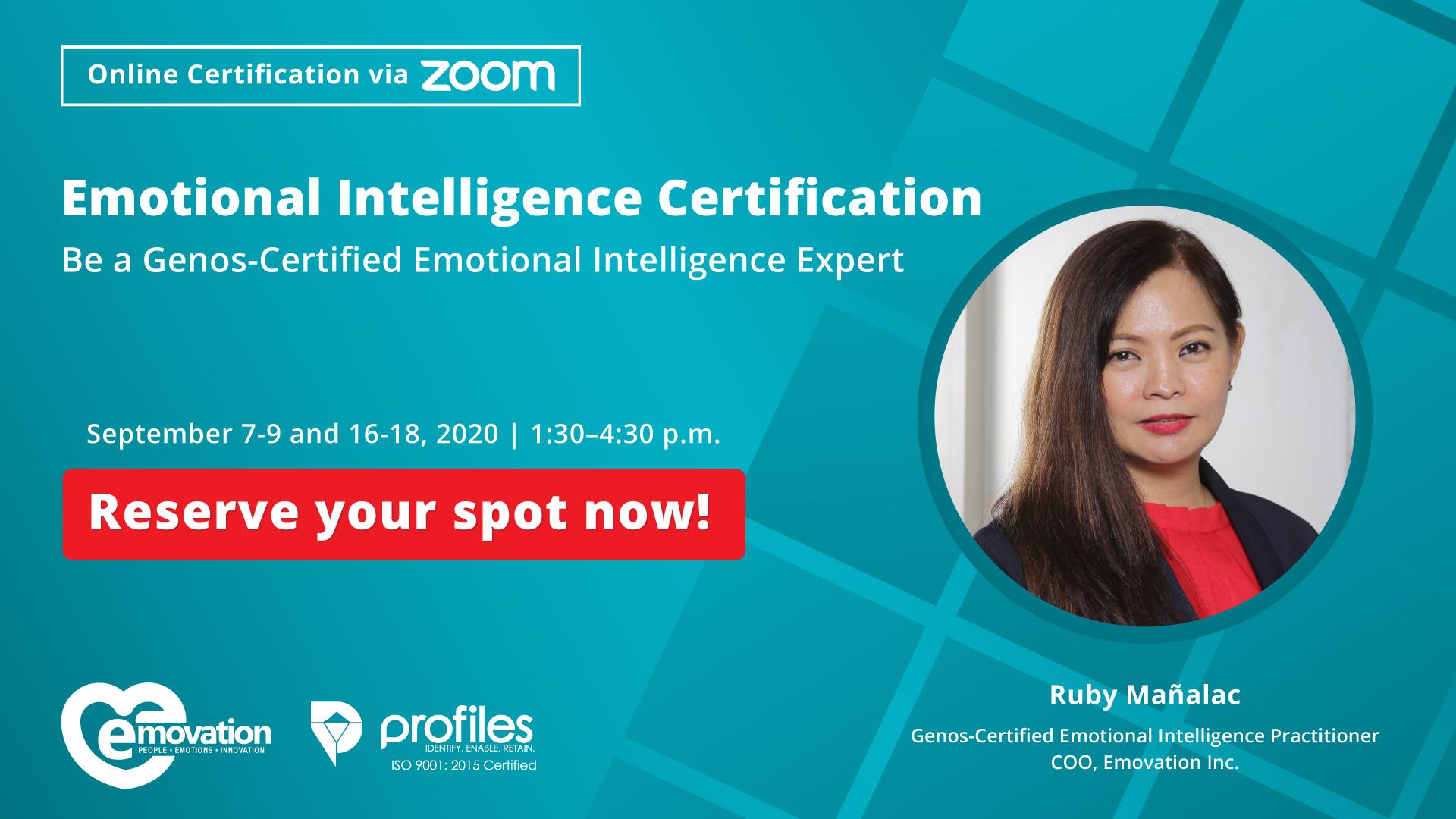 Genos Emotional Intelligence Online Certification