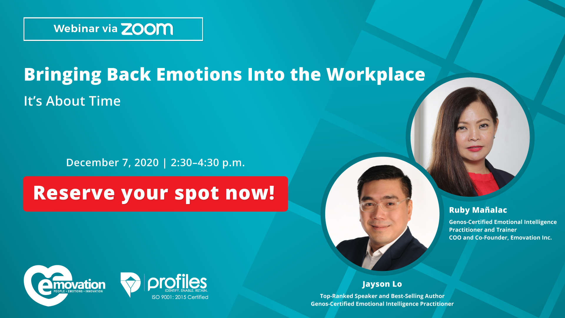 Brining Back Emotions Into the Workplace: It's About Time Webinar