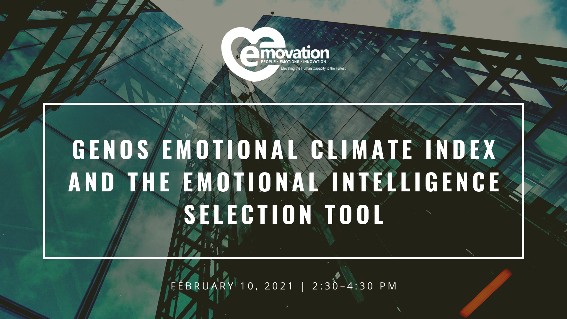 Genos Emotional Culture Index and Genos Emotional Intelligence Selection Tool